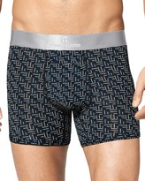 Tommy John Second Skin Titanium Geo Print Trunks