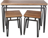 Privilege Wood & Metal Console Table & Side Tables