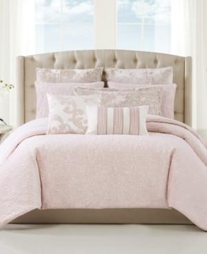Charisma Velvet Melange 3 Piece Comforter Set, King Bedding
