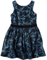 Carter's Girls 4-8 Navy & Velvet Dress