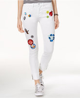 Indigo Rein Juniors' Patch Skinny Ankle Jeans