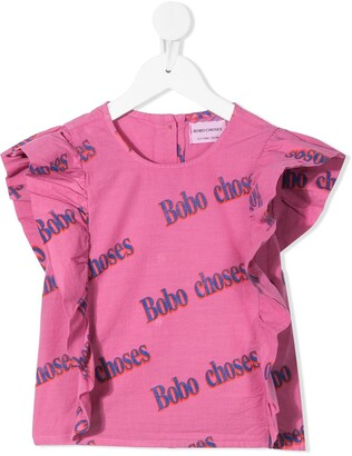 Bobo Choses Logo-Print Blouse