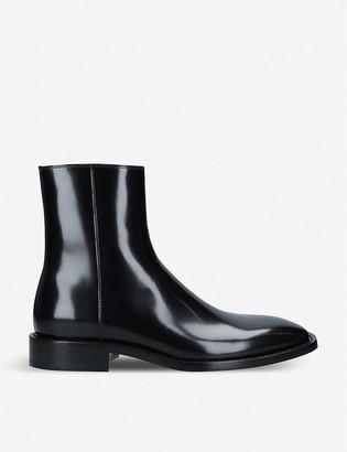 Balenciaga Rim patent-leather ankle boots