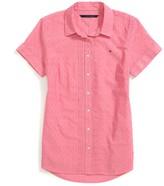 Tommy Hilfiger Final Sale- Pintuck Short Sleeve Shirt