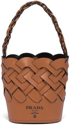 Prada Woven bucket bag