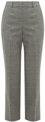 Loewe Straight-leg Wool Trousers - Womens - Grey