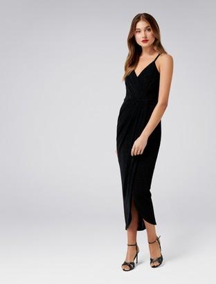 Forever New Gail Petite Glitter Jersey Dress - Black - 6