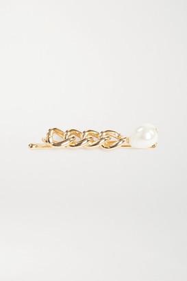 Rosantica Canasta Gold-tone Faux Pearl Hair Slide - one size