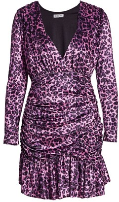 DELFI Collective Beverley Leopard Print Velvet Mini Dress
