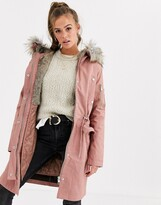 Asos Design DESIGN parka with detachable faux fur liner