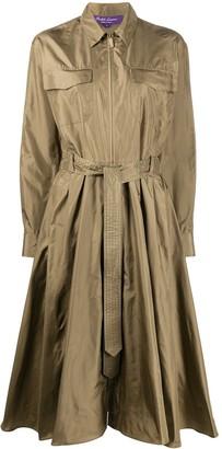Ralph Lauren Tie Waist Silk Shirt Dress
