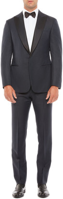 Giorgio Armani Men's Micro-Pattern Wool Tuxedo