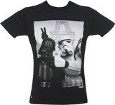 Chunk Mens Black Stormtrooper And Darth Vader Selfie Star Wars T Shirt from