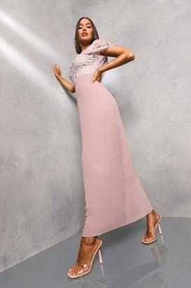 boohoo Embellished Chiffon Maxi Dress