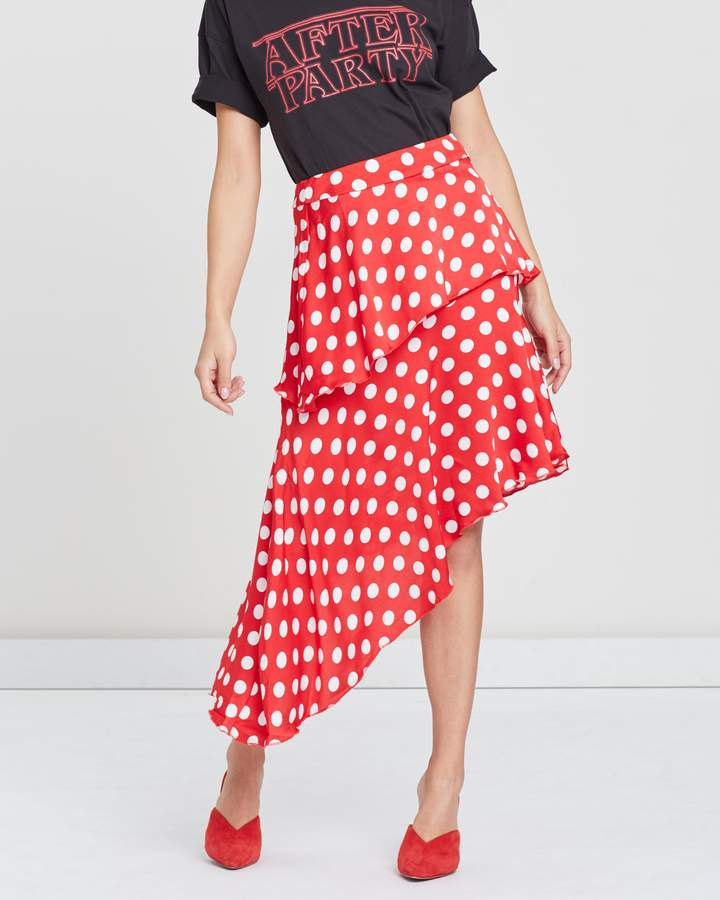 Missguided Georgette Midi Skirt