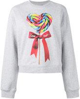 Love Moschino lollipop print sweatshirt - women - Cotton - 38