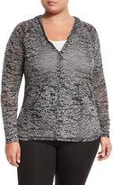 Soybu Alyse Hooded Burnout Jacket, Black, Plus Size
