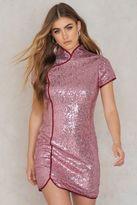 Glamorous Sequin Overlap Dress