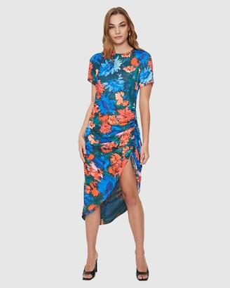 Cooper St Empire Ruched Midi Dress