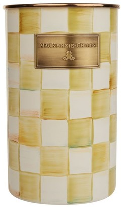 Mackenzie Childs Mackenzie-Childs Parchment Check Enamel Utensil Holder (8.5Cm)