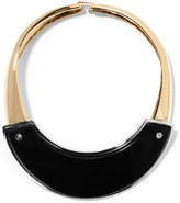 Marni Gold and silver-tone horn necklace