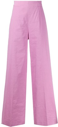 Pinko Linen Wide Leg Trousers