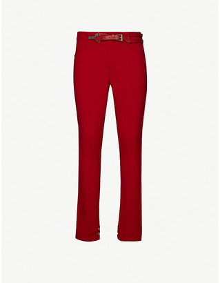Pieces Uniques Anger belted stretch-jersey trousers