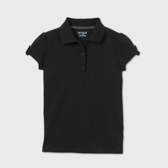 Cat & Jack Girls' Short Sleeve Interlock Uniform Polo Shirt - Cat & JackTM