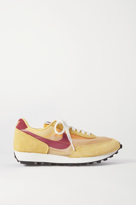 Nike Daybreak Sp Faux Suede And Ripstop Sneakers - Yellow