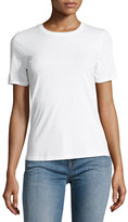 J Brand Jeans Colbee Short-Sleeve Cotton Tee, White