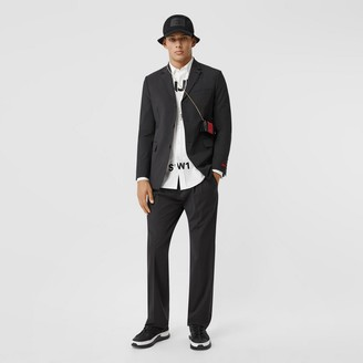 Burberry Zip Detail Technical Nylon Pleated Trousers