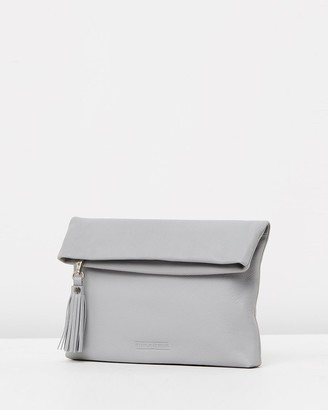 Stitch & Hide - Women's Grey Leather bags - Lily Fold Clutch - Size One Size at The Iconic