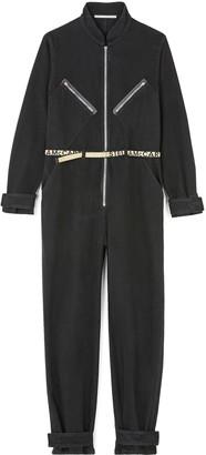 Stella McCartney Zip Logo Belt Cotton Jumpsuit