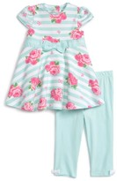 Little Me Infant Girl's Floral Dress & Leggings Set
