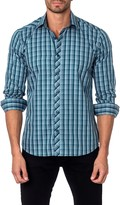 Jared Lang Checked Long Sleeve Semi-Fitted Shirt