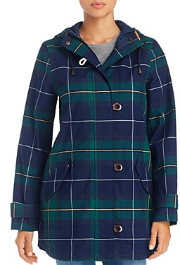 Joules Coast Check Print Raincoat