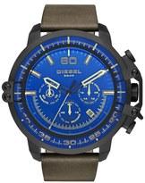 Diesel 'Deadeye' Chronograph Leather Strap Watch, 51mm x 56mm