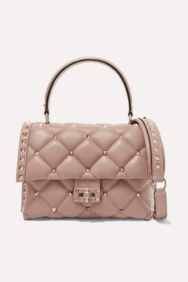 Valentino Garavani Candystud Small Quilted Leather Shoulder Bag - Neutral