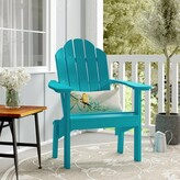 Adirondack Sawyerville Plastic/Resin Chair with Table Laurel Foundry Modern Farmhouse Color: Aruba