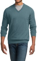 Barbour Cotton-Cashmere Sweater - V-Neck (For Men)