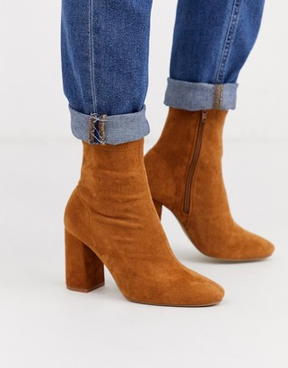 Pimkie suedette high ankle boot in camel