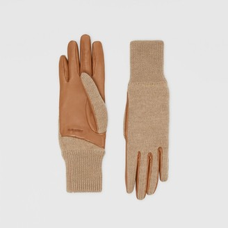 Burberry Cashmere-lined Merino Wool and Lambskin Gloves