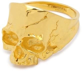 Northskull Disfigured Medius Skull Ring In Gold