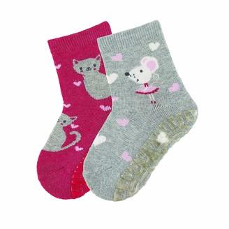 Sterntaler Girl's FLI Air Dp Katze+maus Socks