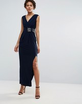 Coast Emile Maxi Jersey Dress in Navy