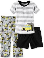 Carter's 3-Pc. Construction Pajama Set, Little Boys (2T-7) & Big Boys (8-20)