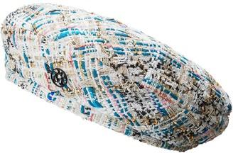 Maison Michel Flore tweed beret