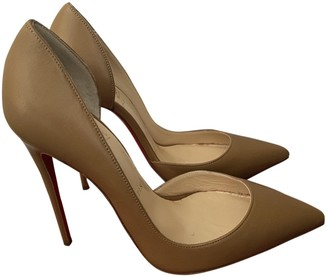Christian Louboutin Iriza Camel Leather Heels