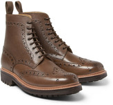 Grenson - Fred Grained-leather Brogue Boots