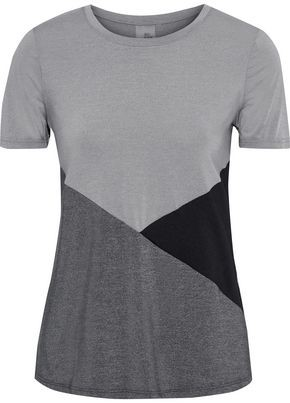 Iris & Ink Color-block Stretch-jersey T-shirt